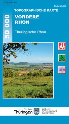 Topographische Karte Thüringen.Topographische Karte Vordere Rhön Thüringische Rhön
